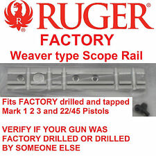 RUGER Mark MK 1 2 3 I II III & 22/45 SIL Scope Mount Rail Weaver Base picatinny