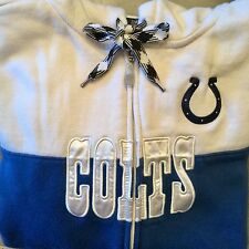 INDIANAPOLIS COLTS NFL Team Apparel Women Full Zip Blue Athletic Hoodie Medium