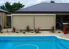 Outdoor Wire Guide Roller Blinds (2.4m Width x 2.4m Drop)