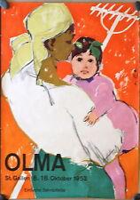 Original 1953 Olma St. Gallen Swiss poster
