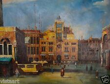 "Wall Art Hand Painted Oil on Canvas 36""x 48"" - Italian City CITYSCAPE"