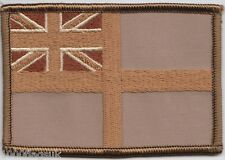 Royal Navy White Ensign Flag Desert Embroidered Crest Badge Patch - MOD Approved