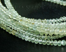 """Natural Green Prehnite Faceted Rondelle Gemstone Beads 8"""""""