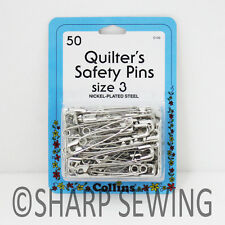 "COLLINS QUILTERS SAFETY PINS - SIZE 3 ( 2"" LONG ) 50 EACH #C133"