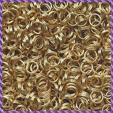 150 anneaux double 6mm Doré