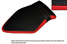 BLACK & RED CUSTOM FITS BMW S 1000 RR 15-16 REAR LEATHER SEAT COVER