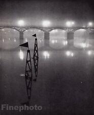1934/68 Vintage 11x14 PONT DES ARTS Evening Art Bridge France Photo Art BRASSAI