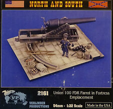 VERLINDEN PRODUCTIONS #2161 Union 100Pdr Parrot in Fortress Emplacement in 1:32