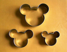 3 size Mickey mouse fondant pastry baking cookie cutter metal set 416