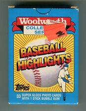Woolworth Collectors Series Baseball Highlights Cards 1988 jh34
