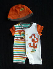 Baby clothes BOY newborn 0-1m 9lbs/4.1kg Disney Tigger bright romper+hat C SHOP!