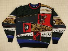 Jumper 80s 90s oversize L unisex cosby abstract geometrical crazy  (EJ318)