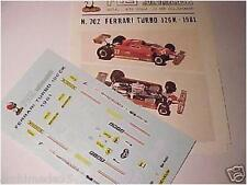 FERRARI 126 K TURBO F1 1981 27 VILLENEUVE DECAL 1/43