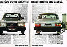 PUBLICITE ADVERTISING 014   1982   VOLVO 240 GL D6  ( 2 pages)