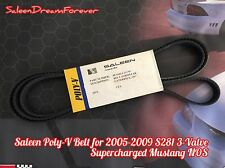 2005-09 SALEEN S281 3-VALVE SC SUPERCHARGED MUSTANG POLY-V BELT NOS S281SC FORD
