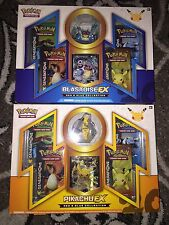 Pokemon Red and Blue Collection PIKACHU & BLASTOISE BOXES TCG generations pin