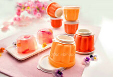 Tupperware 6 Units Jellete Set Jelly Pudding Mould Sunshines Yellow Orange 120ml