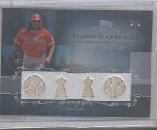 2009 TOPPS 4 RELIC 1 OF 1 VLADIMIR GUERRERO THAT'S RIGHT 1 OF 1