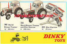 Dinky Toys 305 325 322 David Brown Tractor Large Size Poster Advert Leaflet Sign