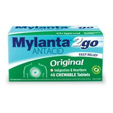 ツ MYLANTA 2GO ANTACID ORIGINAL 48 CHEWABLE TABLETS INDIGESTION & HEARTBURN