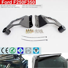 "50"" LED Light Bar Roof Cab Windshield Mount Brackets For 99-15 Ford F250/F350"