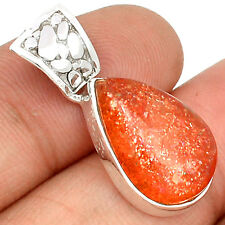 Natural Sun Stone 925 Sterling Silver Pendant Jewelry SP193641
