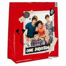 One Direction Red Tote School Bag Shoulder Straps Shopping Gift