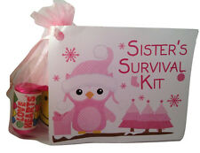 Sisters Survival Kit~ Christmas gift for sister~Laminated card Great Keepsake