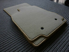 $$$ DeLuxe Velours Fußmatten für Jaguar XF + BEIGE + Original Lengenfelder + NEU