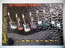 PUBLICITE-ADVERTISING :  Guitares FENDER Squier  03/2001 Standard Series