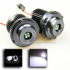 NEW DIRECT FIT E60 E61 LCI FACELIFT 24W WHITE CREE LED ANGEL EYE HALO LIGHT BULB