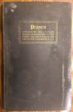 Prayers Offered During Congress - 1927 - SIGNED CHAPLAIN JOHN SHERA MONTGOMERY