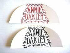 vintage TV Cowgirl ANNIE OAKLEY CELLULOID PATCH set 1960s LINDSAYS LEICHHARDT NM