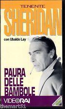 Il tenente Sheridan. Paura delle bambole (1960) VHS VideoRai - Ubaldo Lay