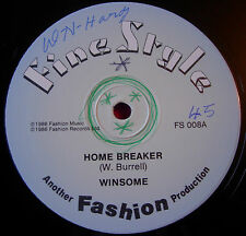 "Winsome Home Breaker 12"" Lovers Fine Style bw Homebreaker Version+P.A. Mix VINYL"