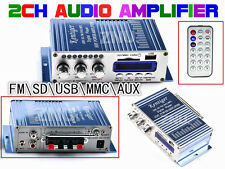 AMPLIFIER CAR STEREO AUDIO FM RADIO BOAT AMP FOR IPHONE AUX SD USB MP3 CD DVD