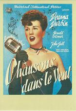 Carte Postale Affiche de Film - CHANSONS DANS LE VENT - Col Télérama Réf:39