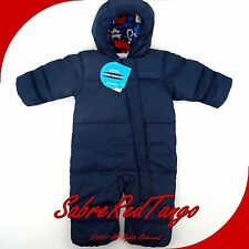 NWT COLUMBIA BABY SNUGGLY BUNNY SKI BOWL DOWN BUNTING NAVY 1720921 6-12 M