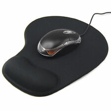ANTI-SLIP MOUSE MAT PAD WITH FOAM WRIST SUPPORT PC & LAPTOP ..UK SELLER*..