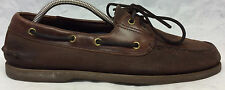Sperry Top Sider Mens Sz 11 S US Brown Leather Lace Up Dock Boat Loafer Shoes