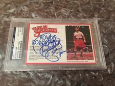 Rowdy Roddy LJN  SIGNED FIGURE CARD WWF PSA/DNA AMAZING!!