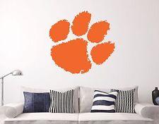 Clemson Tigers NCAA Wall Decal Sports Basketball Football Sticker Vinyl Decor