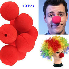 10x Sponge Clown Nose Halloween Comic Relief Circus Fancy Dress Carnival Party