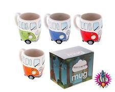 OFFICIAL LICENSED VW VOLKSWAGEN CAMPER VAN COFFEE CUP MUG FOUR PACK