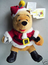 "Disney Plush Been Bag Santa Bear With Cookie & Milk 8"" Toy"
