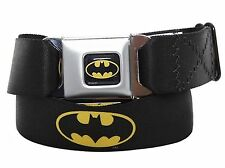 Batman Seatbelt Style Buckle Belt - Officially Licensed Batman Belt