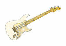David Gilmour's Fender Stratocaster 0001 POSTER PRINT A1 Size