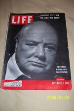 1953 LIFE Magazine Sir WINSTON CHURCHILL Winner of NOBEL PRIZE For LITERATURE