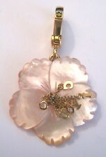 New Juicy Couture VERY RARE Retired 2005 Pink MOP Hibiscus Flower Charm