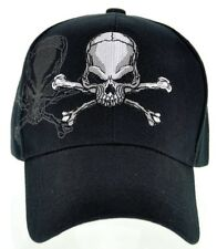NEW! PIRATE SKULL SHADOW N1 CAP HAT BLACK